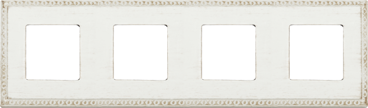 FEDE TOLEDO PROVENCE РАМКА 4-НАЯ, WHITE DECAPE - FD01214BD
