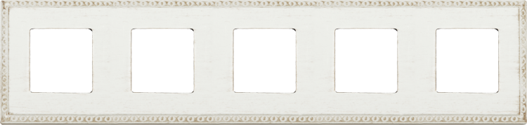 FEDE TOLEDO PROVENCE РАМКА 5-НАЯ, WHITE DECAPE - FD01215BD