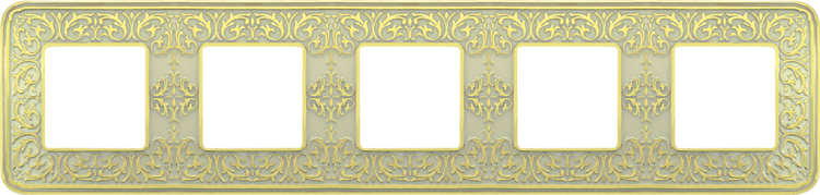 FEDE EMPORIO РАМКА 5-НАЯ, GOLD WHITE PATINA - FD01375OP