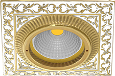 FEDE СВЕТИЛЬНИК ВСТРАИВАЕМЫЙ SMALTO ITALIANO, PEARL WHITE - FD1005OPEN
