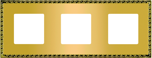 FEDE TOLEDO РАМКА 3-НАЯ, REAL GOLD - FD01213OR