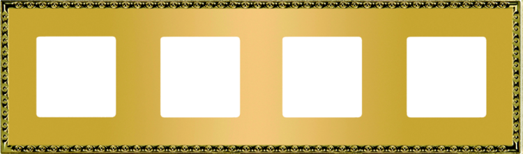 FEDE TOLEDO РАМКА 4-НАЯ, REAL GOLD - FD01214OR