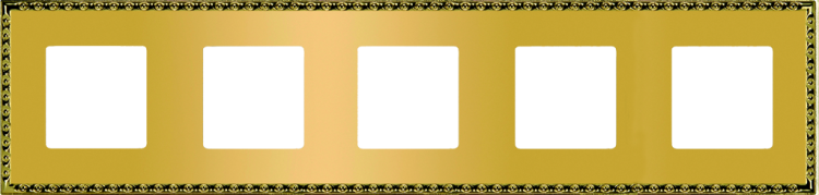 FEDE TOLEDO РАМКА 5-НАЯ, REAL GOLD - FD01215OR